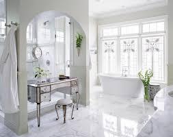 Bathroom Makeup Vanity Sets by Gray Bathroom Nook With Freestanding Makeup Vanity Under Window