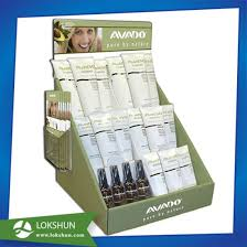 Floor PDQ Cardboard Retail Product Display Stands For Body Lotion