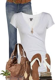 Saturday Comfort White Shirt Jeans And Hobo Bag