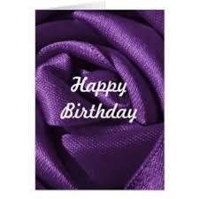 Custom Purple Rose Birthday Card