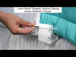 Regalo Extra Long Bed Rail by Regalo Deluxe Swing Down Bedrail Flower Review Youtube