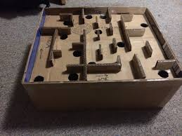 This Is The Maze Game That I Made For Cardboard Arcade Concepting Class Object Of To Get Ball From Start