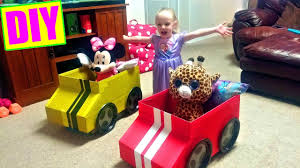 how to make a cardboard box car for kids easy tutorial diy youtube