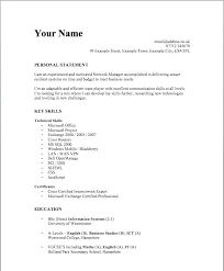 Basic Resume Format Examples Simple Sample For Students With Regard To
