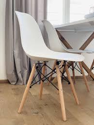 stühle 4er set weiß skandinavisches design in 5020