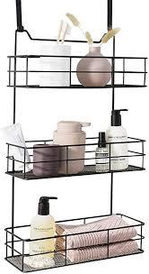 lifa living türregal zum einhängen hängekorb für bad und küche 3 ablagen hängeregal für küche und bad schwarz metall 35 b x 15 t x 60 h cm