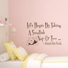 Winnie The Pooh Nursery Decor Ireland by Wall Decal Quote Winnie The Pooh Decal Let U0027s Begin By