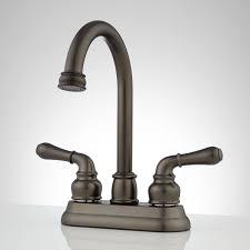 Brushed Bronze Tub Faucet by Brannigan Centerset Gooseneck Bathroom Faucet Bathroom