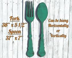 Wood Fork And Spoon Wall Hanging by Wall Decor 26 Amazoncom Vintage Fork And Spoon Wall Art Set Of 2