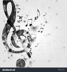 Black And White Music Poster With Notes Elements Design For Card