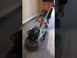 concrete grinding with the husqvarna pg 450 youtube