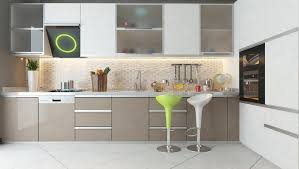 cuisine cappuccino kitchen design with white and cappuccino color wooden furniture