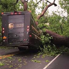 100 Ups Truck Accident UPS Crushed By Fallen Tree In Hudson Valley