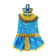 Old Westbury Gardens Dog Halloween by Cleopatra Dog Costume Blue With Same Day Shipping Baxterboo
