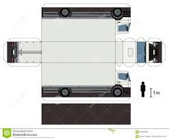 100 Paper Truck Model Of A Truck Stock Vector Illustration Of Road 84346494