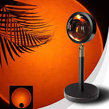 hoxeejee sunset l with 180 degree rotation sunset projection l sunset light sunset projector light projector led light for bedroom