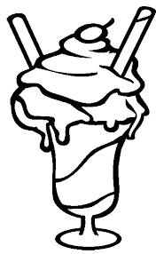 Ice Cream Sundae Is So Yummy Coloring Pages