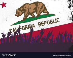 California State Flag With Audience Vector Image