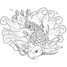 5 Koi Fish Picture Of Large Easy Coloring Japanese Tattoo Flash By Caylyngasm