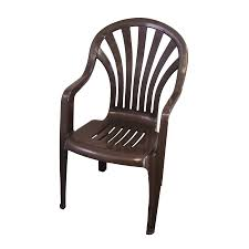 Walmart Stackable Patio Chairs by Shop Gracious Living Earth Dark Brown Seat Plastic Stackable