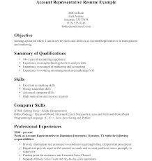 Account Manager Resume Template Patient Representative Sales Cute