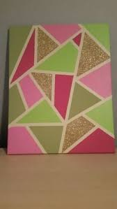 Canvas Art Made Myself Love This Piece And Colors Just Used Masking Tape