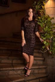 tan black lace dress charlotte mynt modest bridesmaids dresses