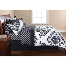Mainstays Coordinated Bedding Set Classic Noir Damask Walmart