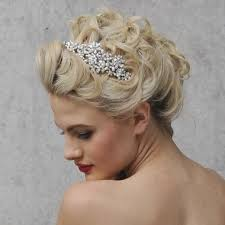 1920 Vintage Style Side Wedding Hair Accessory With Diamantes Freshwater Pearls Shown On Bride