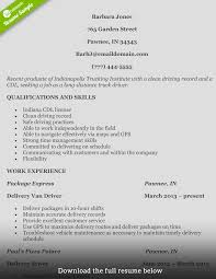 100 Over The Road Truck Driving Jobs How To Write A Perfect Driver Resume With Examples