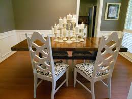 Dramatic Dining Room Table Centerpiece Using Candles