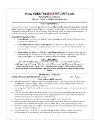 Security Officer Resume Template Templates Sheriff Example Executive Guard Sample Police
