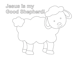 Shepherd And Sheep Coloring Page