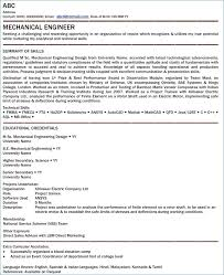 Best Resume For Mechanical Engineer Fresher Of Electrical