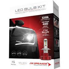 JW Speaker Headlight Kit - Conversion, LED, H4, 12-24v, 6000K ... Automotive H11 Led Headlight Torchstar 5w T3 E12 Candelabra Base Led Bulbs40 Watt Incandescent Bulb Diode Dynamics Dd0144p Chevroletgmc Reverse Light Ultra Irulu H7 Led Headlight Bulbs Youtube 2007 2013 Gmc Sierra Upgrade With Dual Smd Lights Cree 9003hb2h4 Cversion Kit H4 Combo 9003 High Low Beam H16 Fog For Toyota Nighteye A314 60w 9000lm Car Household Truck Trailer Rv Lighting Bulbs Piaa