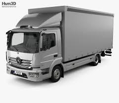 100 Mercedes Box Truck Benz Atego 2013 3D Model Vehicles On Hum3D