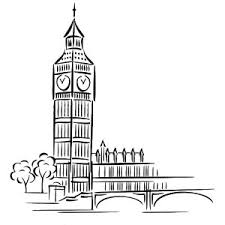 The Most Popular Landmark In London Big Ben Coloring Page