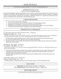 Legal Resume Format Templates
