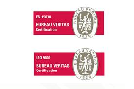 logo bureau veritas certification stepping awarded certification for both en 15038 and iso 9001