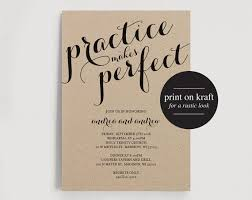 Rehearsal Dinner Invitation Practice Makes Perfect Wedding Editable Printable