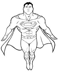 Superman Printable Coloring Page