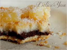 dessert ananas noix de coco la tarte coco chocolat ananas délice yeux l univers gourmand