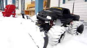 100 Rc Truck Snow Plow Rc Plow 2 Speed Drill Powered Video Dailymotion