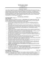Job Resume Retail Manager Examples For Position