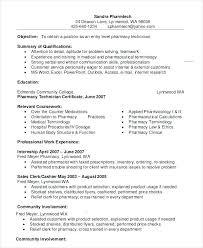 Pharmacy Technician Job Description For Resume Example