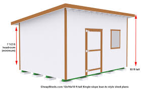 10 X 16 Shed Plans Free by Shed Plans With Sloped Roof