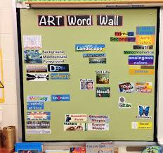 Magnetic Word Wall To Encourage The Students Learn Know And Use Art Vocabulary Good Idea For Environmental Print