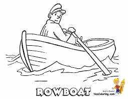 Easy Boat Coloring Page Of Fisherman