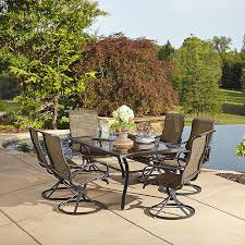 7 Piece Patio Dining Set by Grand Resort 5194 7pc Oak Hill Rectangle 7 Piece Swivel Dining