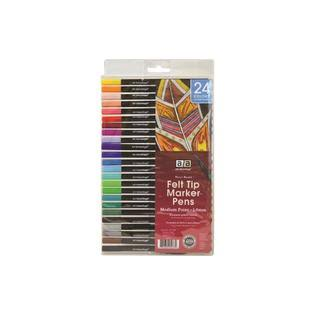 Art Advantage Felt Tip Marker Pens - 24 Pens, 1mm